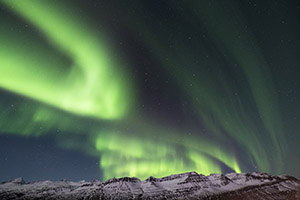 Northern lights on display in Iceland