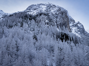 Snow in the Julian Alps Slovenia