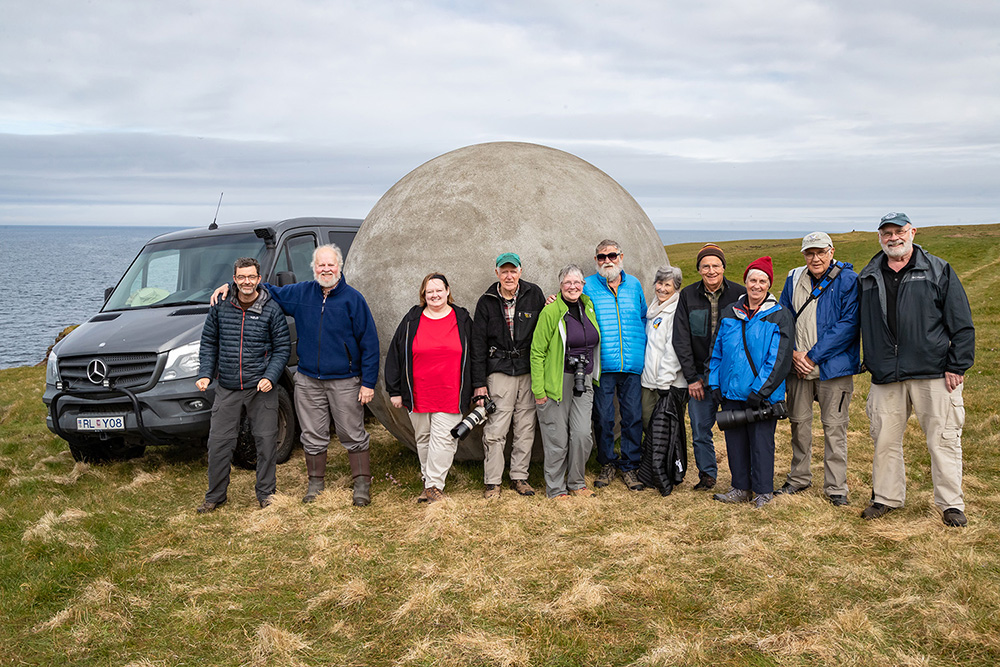 Our group at the Arctic Circle marker