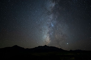 Milky Way over Wilson Peak Colorado