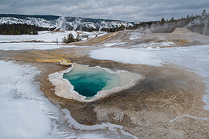 Yellowstone hot pool and landscape