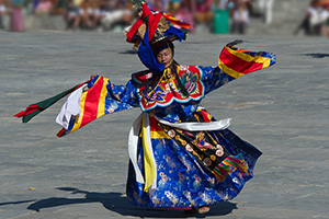 Traditional dancer in Bhutan