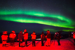 Photographing the northern lights near Fairbanks, Alaska