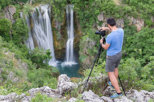 Photographing at Plitvice Lakes National Parks Croatia