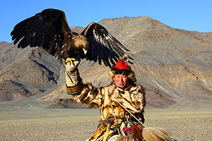 Golden eagle festival participant