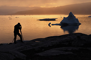 Photographing an iceberg in Greenland