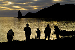 Photographing in Galapagos
