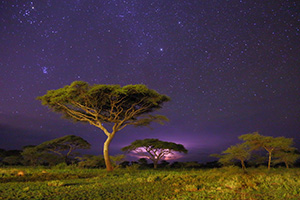 Night sky over Tanzania