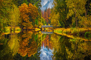 Reflected fall colors in Yosemite